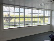 2 x Large Office Window Blinds - Dimensions Of Each: 175 x 165cm - Ref: ED169/B