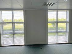 2 x Large Office Window Blinds - Each Measures W170 x H260cm - Ref: ED167G - To Be Removed From An