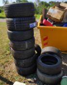 Stack of 11 Assorted Tyres - CL682 - Location: Bedford NN29