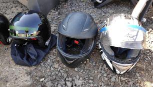 3 x Assorted Motorsport Helmets - CL682 - Location: Bedford NN29