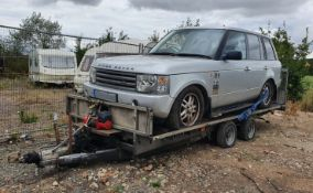 1 x Ifor Williams Twin-Axle Car Transporter Trailer With Winch - CL683 - Location: Bedford NN29