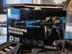 1 x Draper 20V Cordless Pressure Washer with Charger and 2.0Ah Battery - CL682 - Location: Bedford
