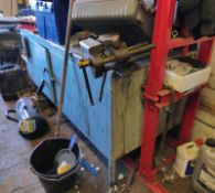 1 x Large Metal Workbench - Believed to be Ex-Rolls Royce - CL682 - Location: Bedford NN29