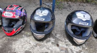 3 Assorted Helmets - CL682 - Location: Bedford NN29
