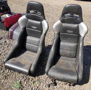 2 x Konig Seats With Ford Sierra Cosworth Rails - CL682 - Location: Bedford NN29