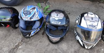 5 Assorted Helmets - CL682 - Location: Bedford NN29