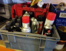 Assorted Sprays and Lubricants - CL682 - Location: Bedford NN29