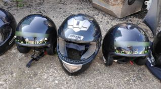 3 x Assorted Helmets - CL682 - Location: Bedford NN29