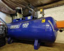 1 x Draper 150 Litre Compressor - CL682 - Location: Bedford NN29