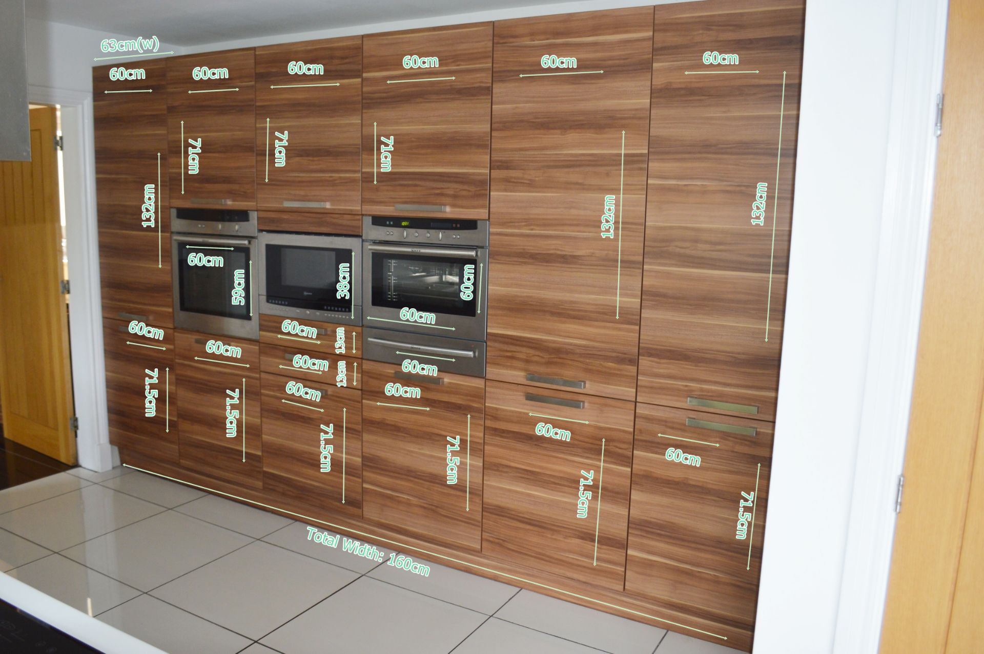 1 x Contemporary Bespoke Fitted Kitchen With Integrated Neff Branded Appliances, Quartz Worktops - Image 45 of 52