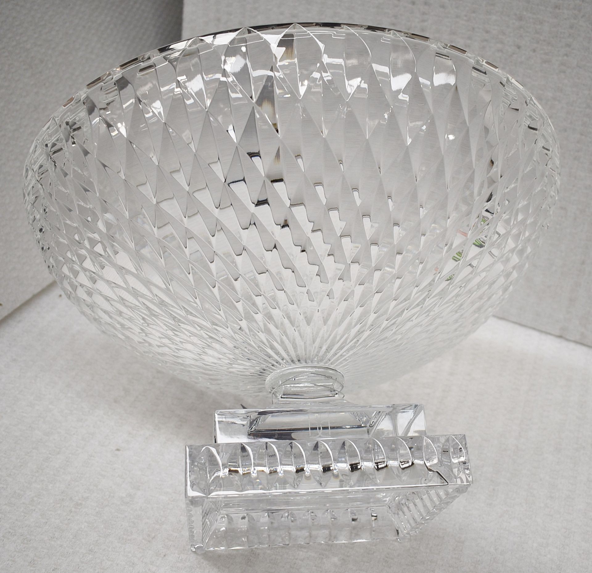1 x BALDI 'Home Jewels' Italian Hand-crafted Artisan Large Round Clear Crystal Bowl - RRP £1,925 - Image 3 of 4
