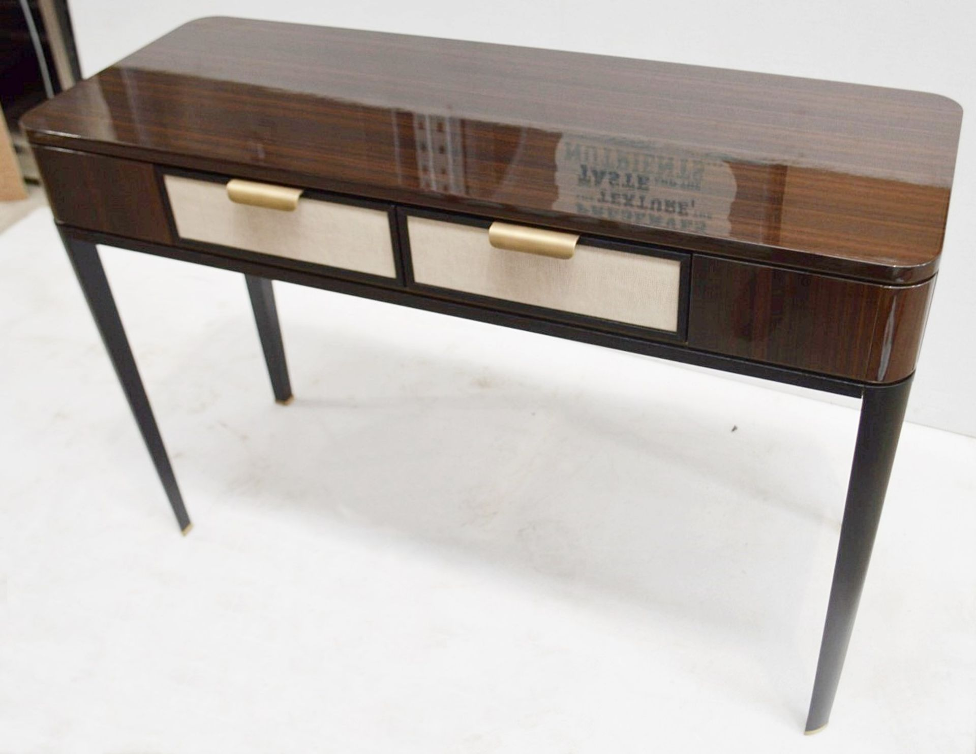 1 x FRATO 'Mandalay' Luxury Designer 2-Drawer Dresser Dressing Table In A Gloss Finish - RRP £4,300 - Image 13 of 17