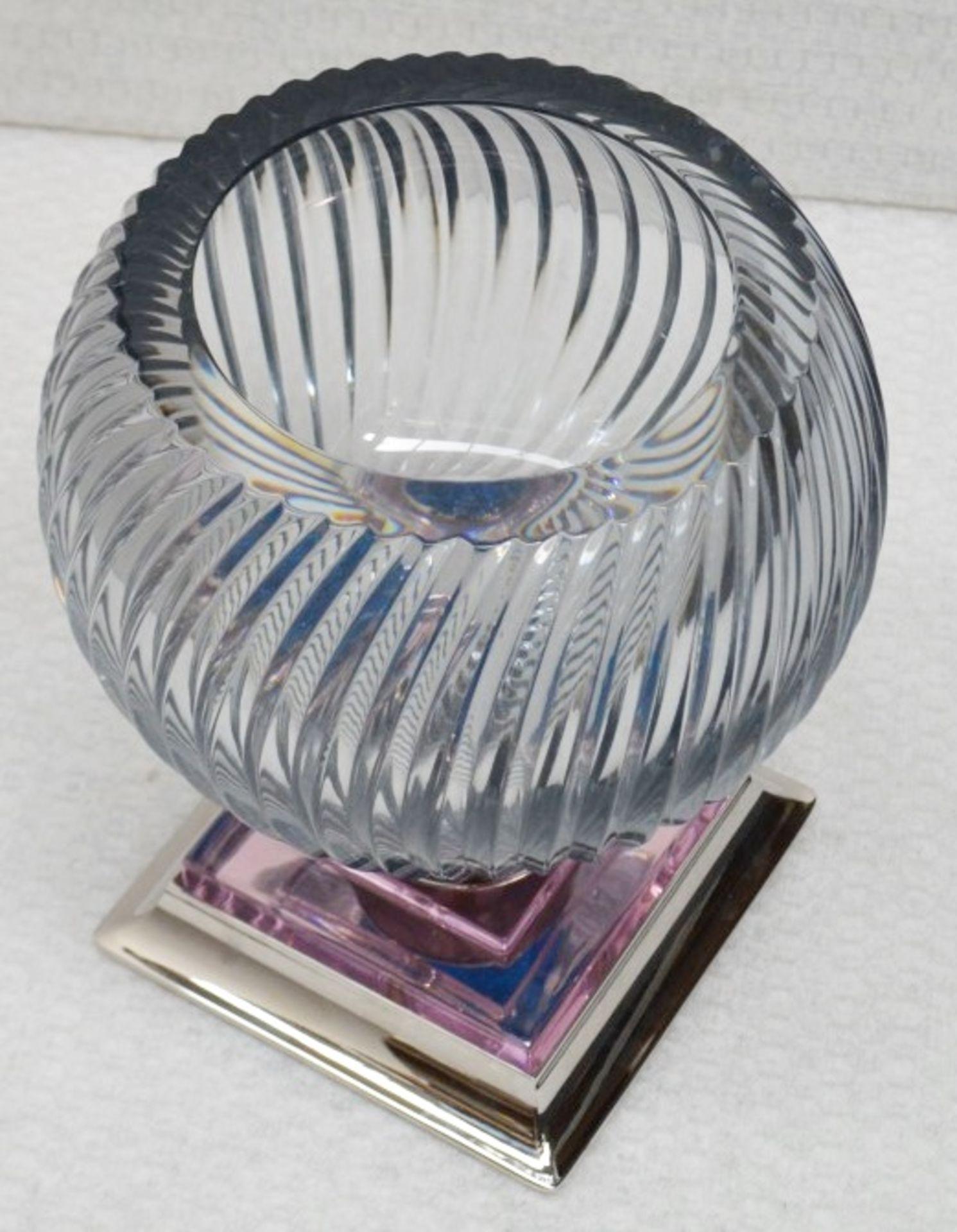 1 x BALDI 'Home Jewels' Italian Hand-crafted Artisan Coccinella 'BIG' Cup, In Smoke, Pink & Blue - Image 3 of 4