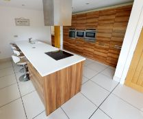 1 x Contemporary Bespoke Fitted Kitchen With Integrated Neff Branded Appliances, Quartz Worktops
