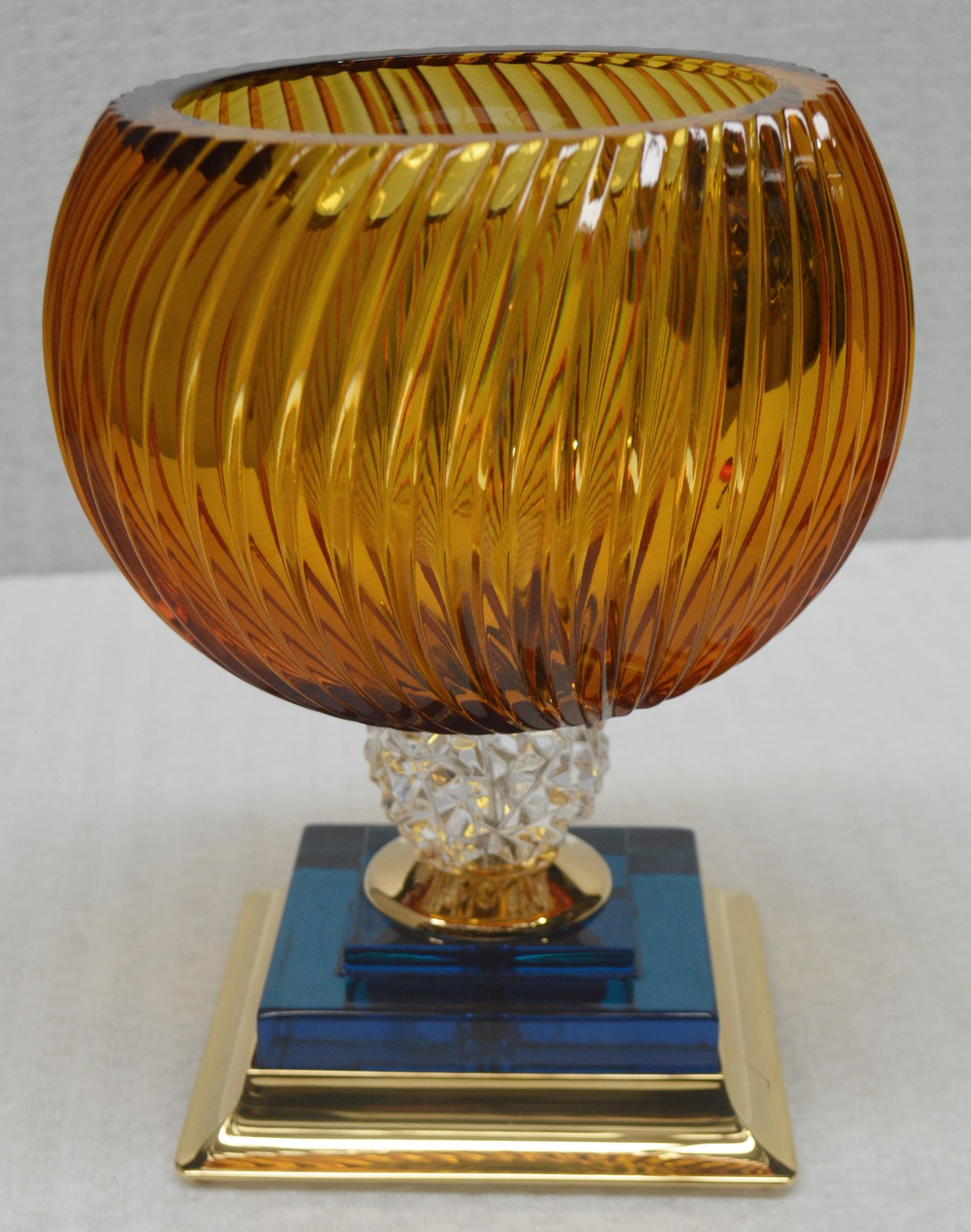 1 x BALDI 'Home Jewels' Italian Hand-crafted Artisan Coccinella Cup, In Orange & Blue Charme - Image 3 of 5