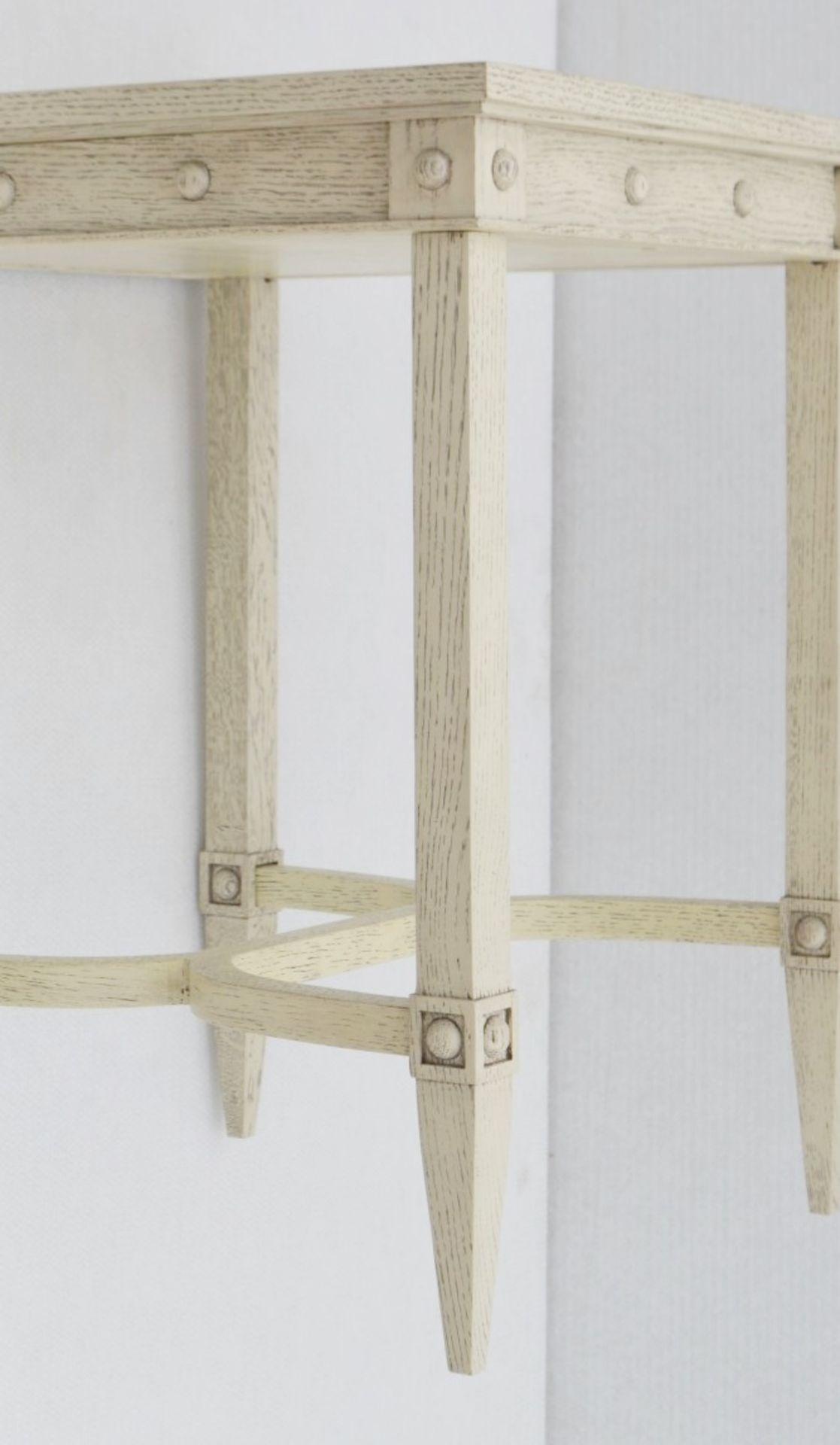1 x JUSTIN VAN BREDA 'Thomas' Designer Georgian-inspired Table In Limed Grey Oak - RRP £1,320 - Image 6 of 6
