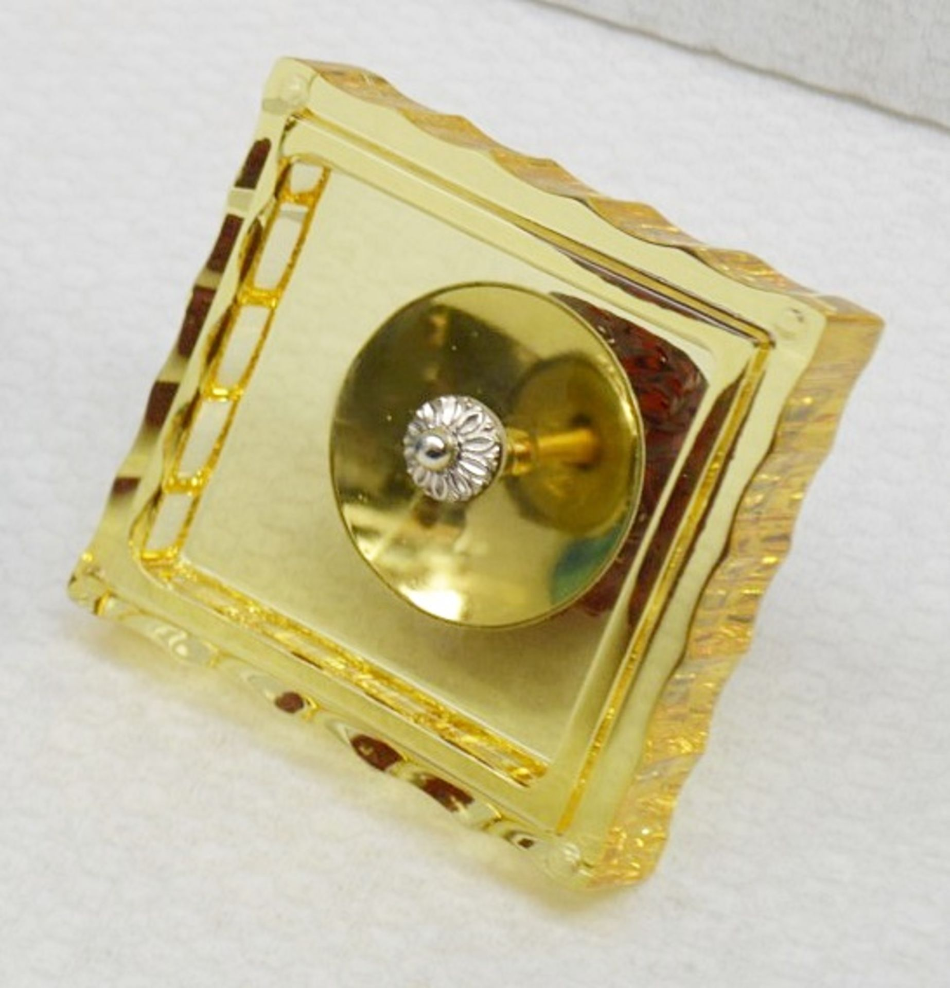 1 x BALDI 'Home Jewels' Italian Hand-crafted Artisan Crystal Box In Blue & Yellow, With A - Image 2 of 5