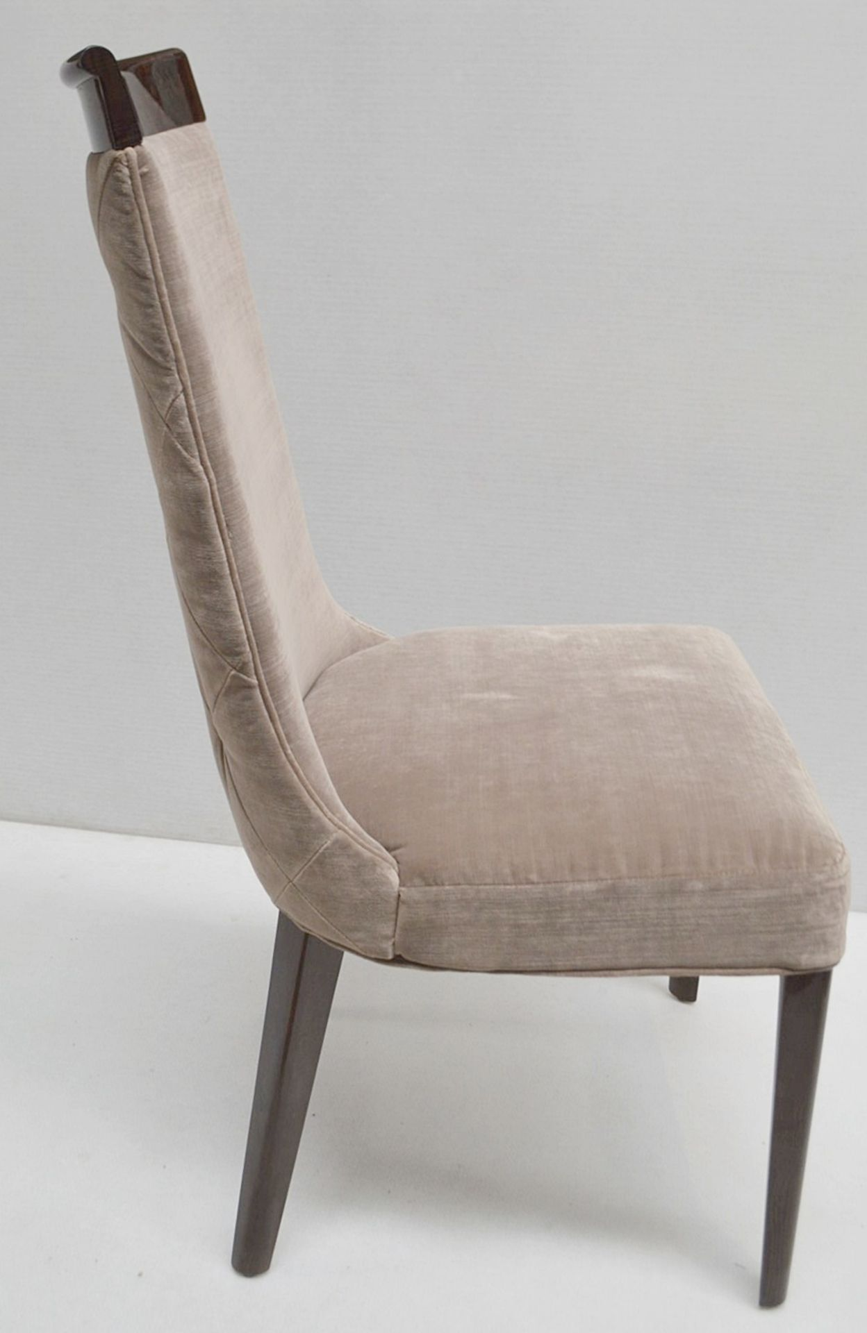 4 x GIORGIO Coliseum Velvet Upholstered Button Back Side Chairs With A Brazilian Rosewood Finish - - Image 11 of 11