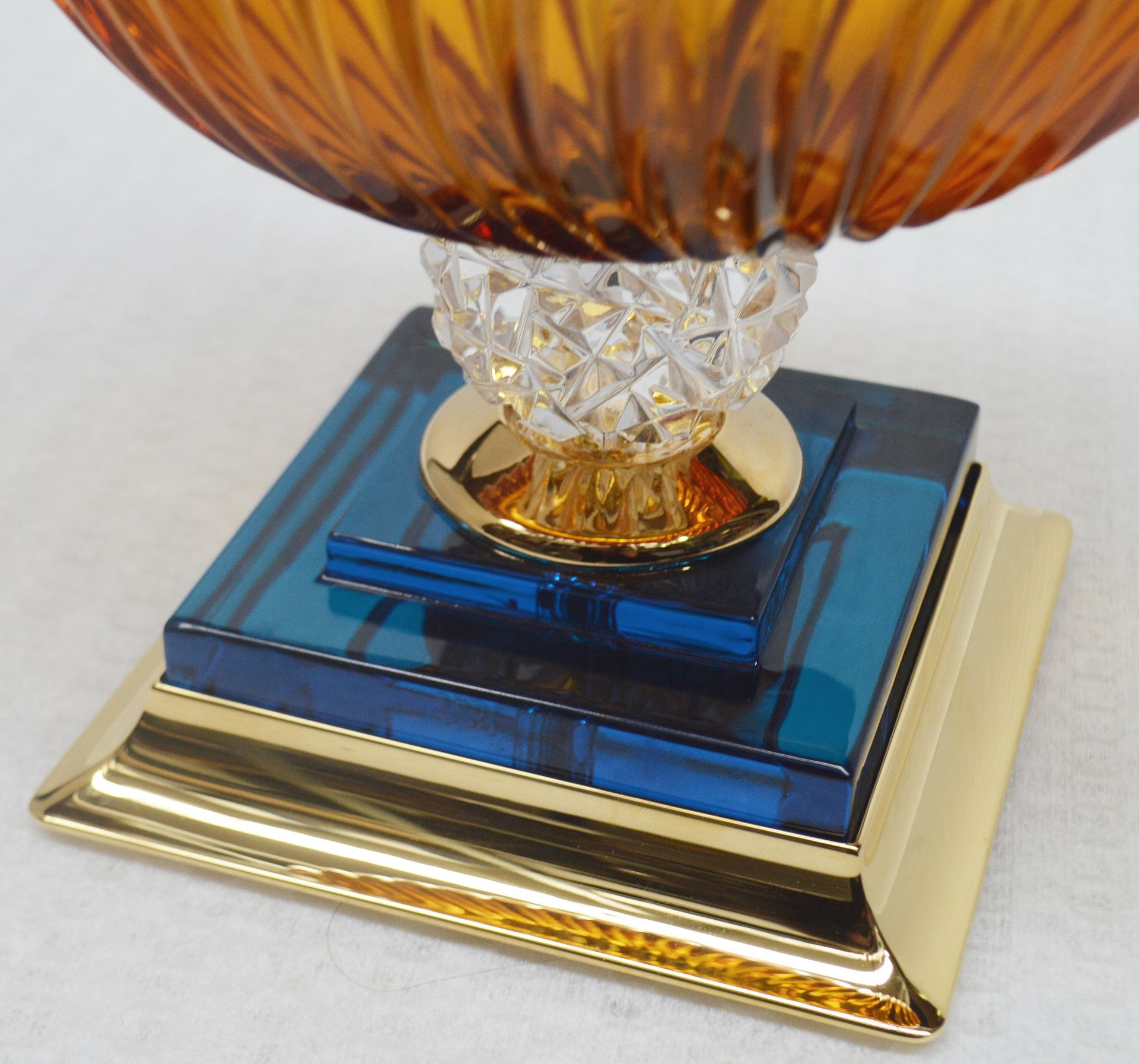 1 x BALDI 'Home Jewels' Italian Hand-crafted Artisan Coccinella Cup, In Orange & Blue Charme - Image 5 of 5