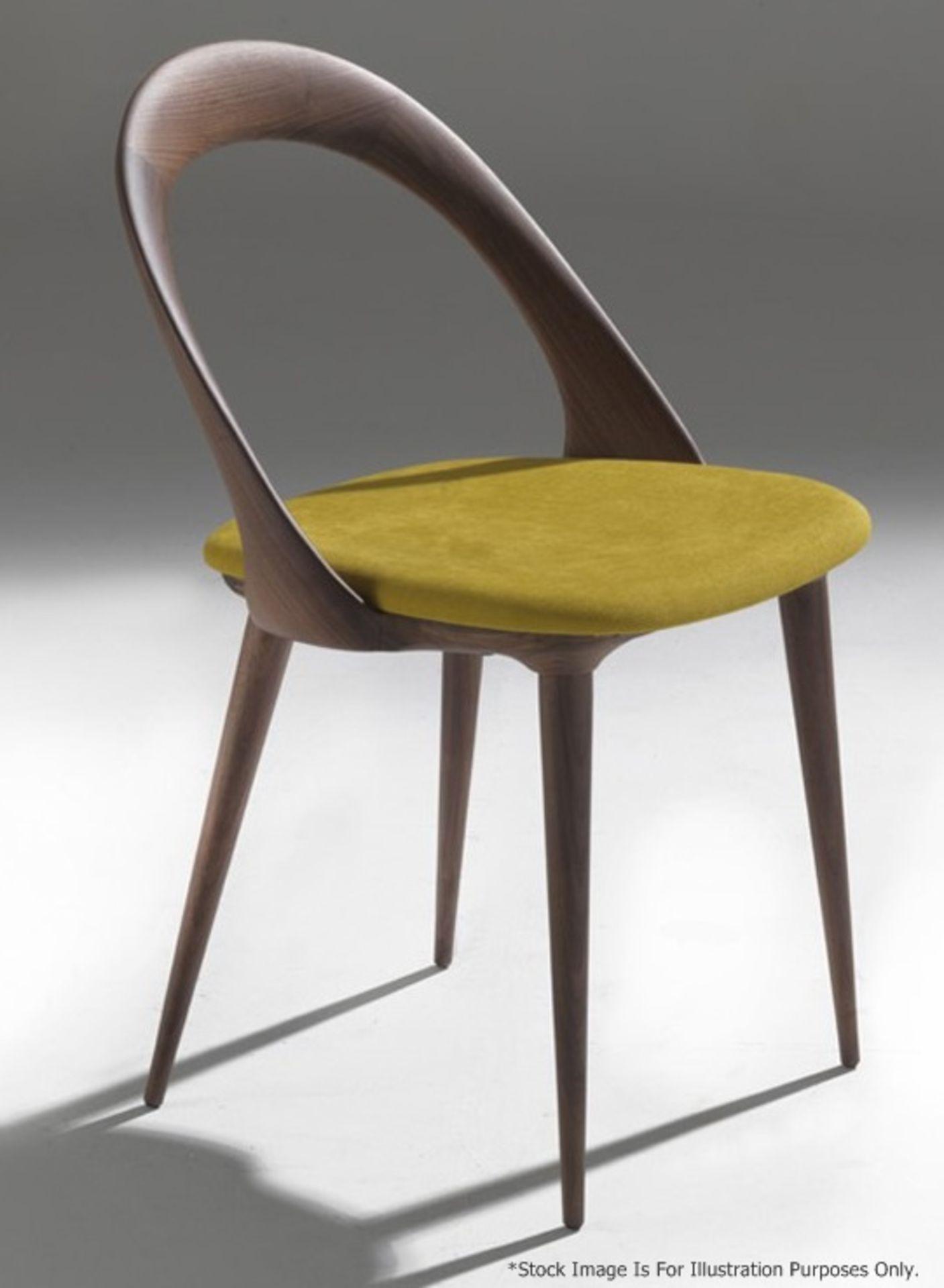 Set Of 4 x PORADA 'Ester' Italian Designer Dining Chairs Featuring Leather Seats - RRP £5,120