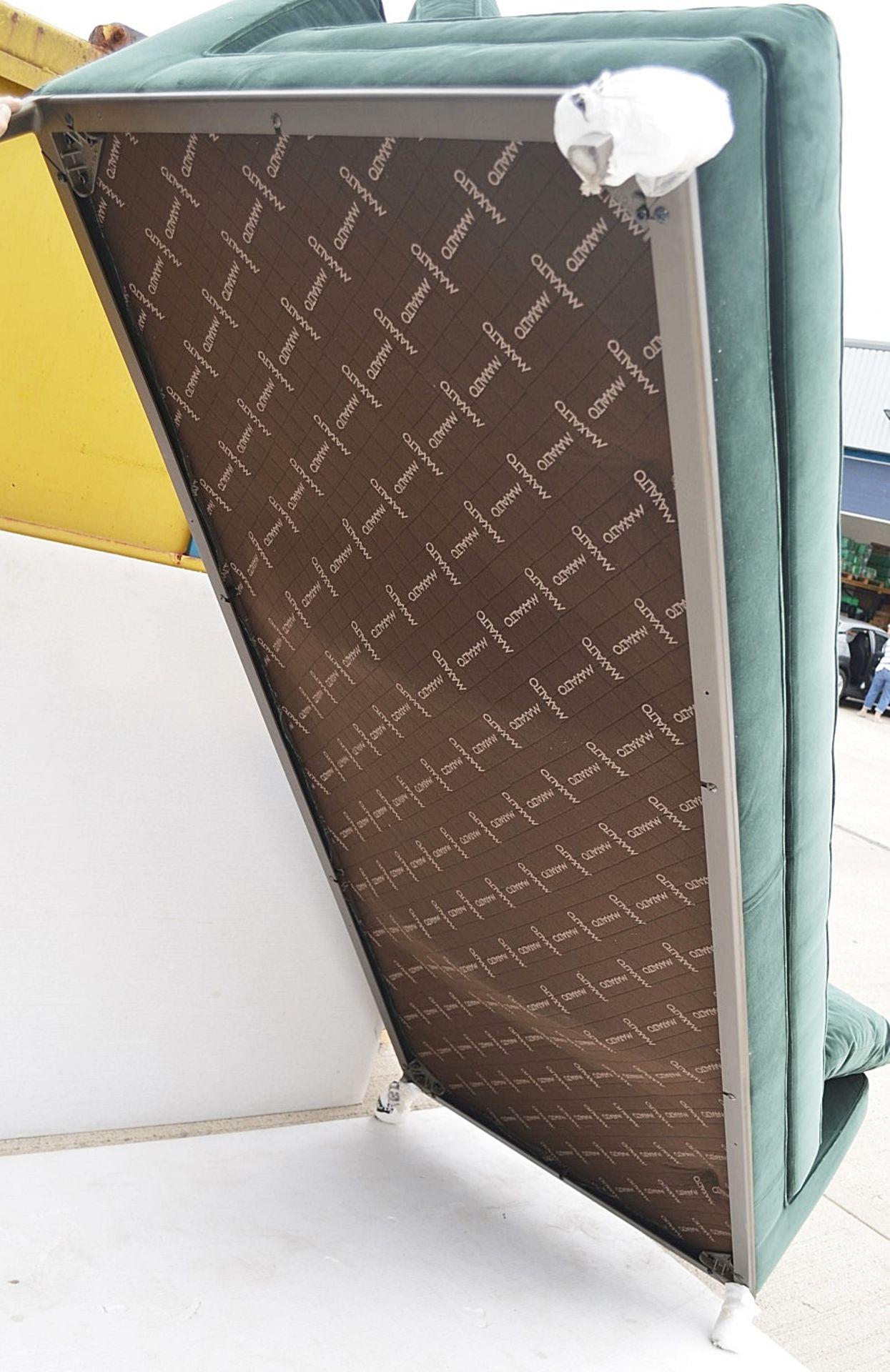 2 x B&B Italia MAXALTO Luxury Sofa Sections Both Upholstered In Rich Dark Green Velvet - RRP £7,248 - Image 7 of 13