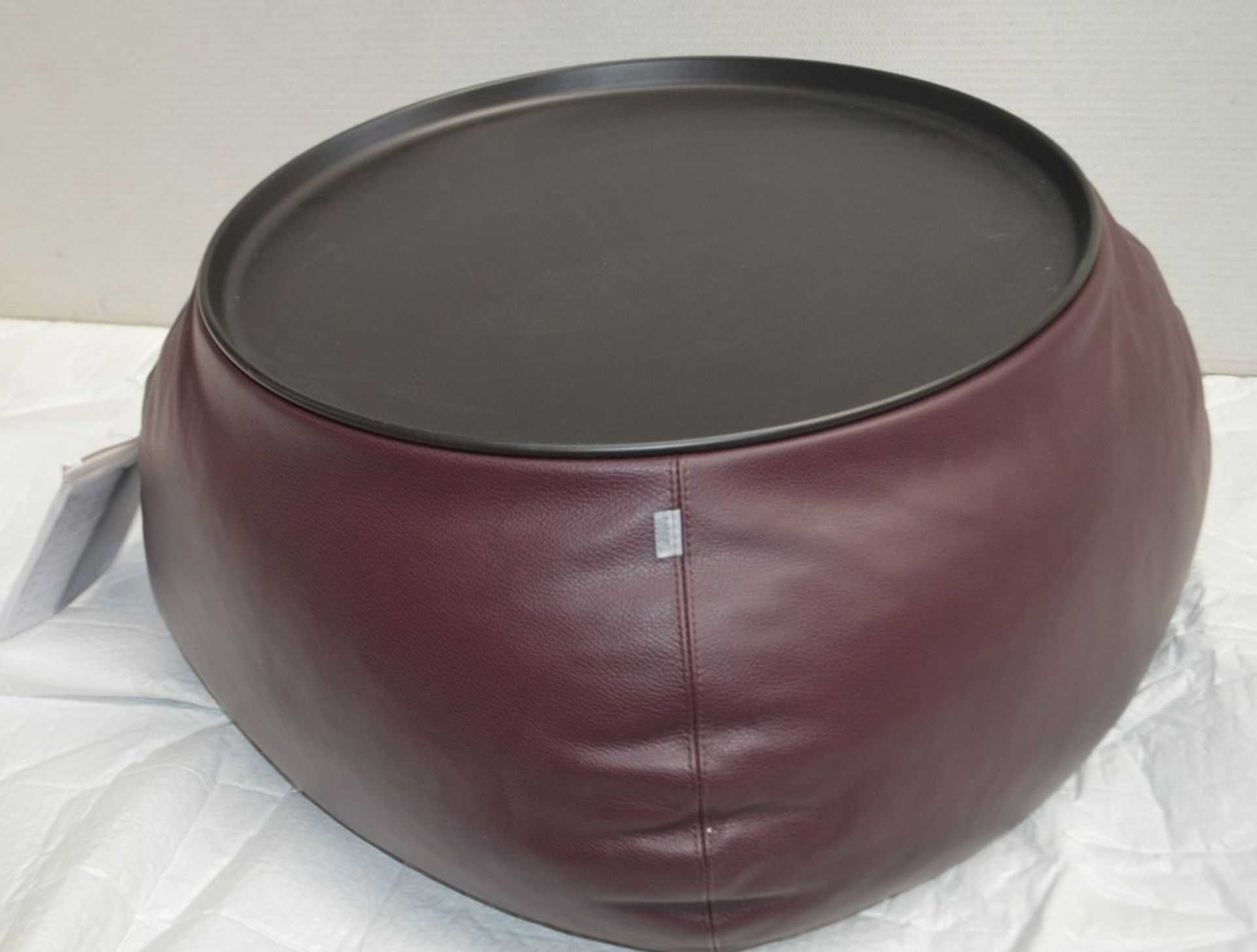 1 x B&B ITALIA 'Fat Fat' Lady Fat Low Coffee Table Upholstered In Genuine Leather - RRP £1,706 - Image 5 of 5