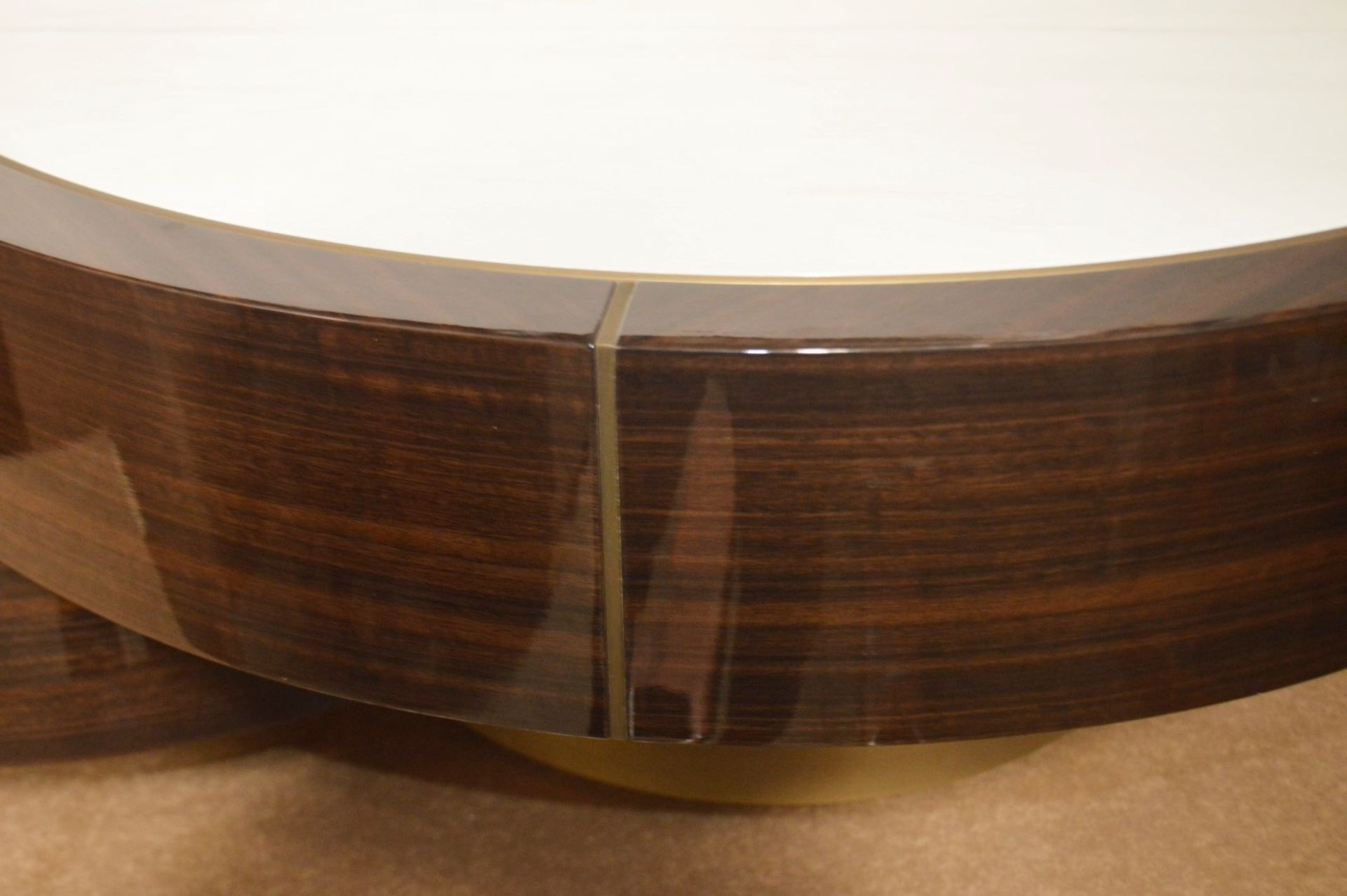 1 x FRATO 'Aarhus' Luxury Coffee Table Topped With Marble With High Gloss Finish - RRP £6,611 - Image 7 of 9