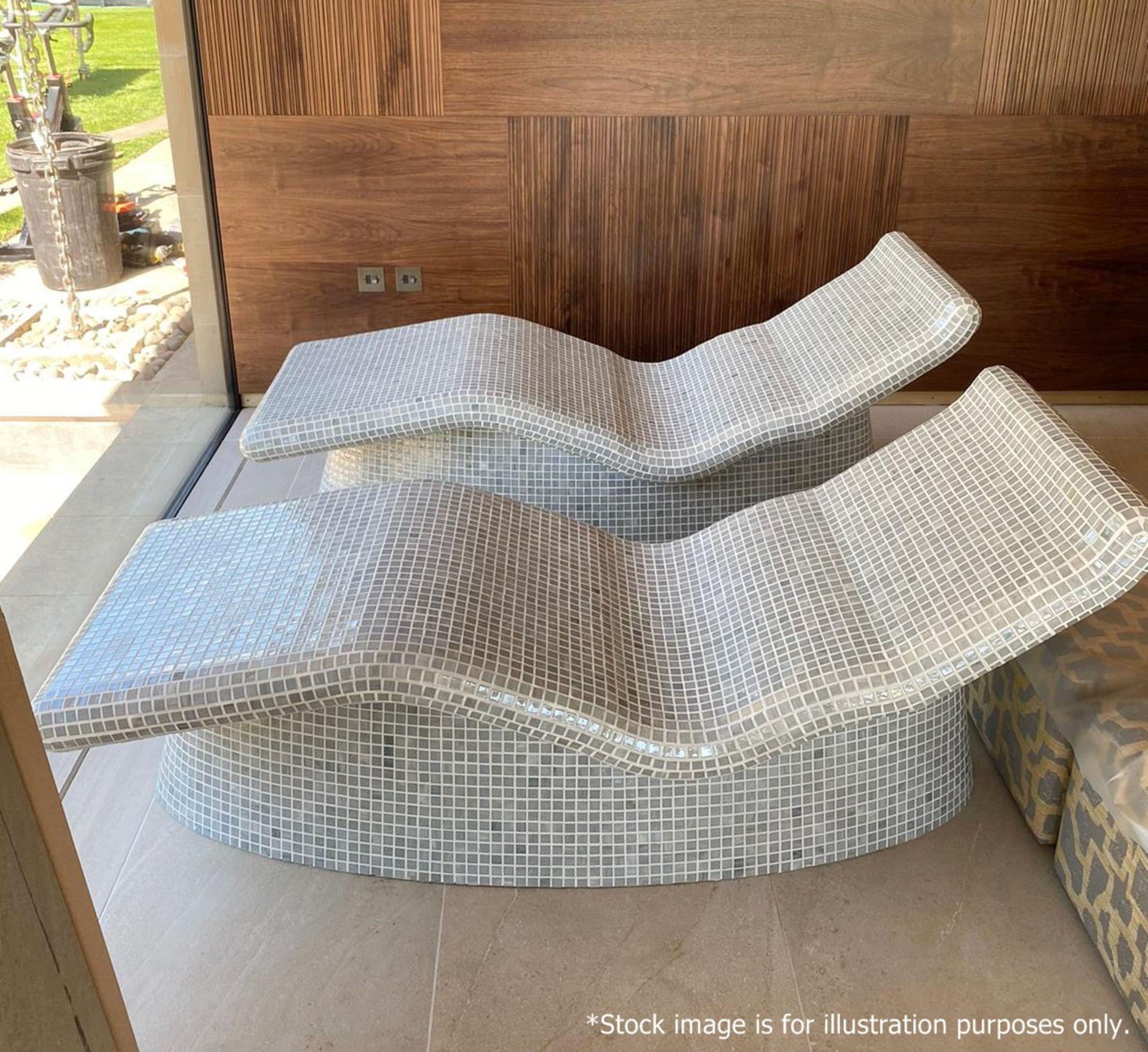 2 x Heated Sun Lounge Chairs - Brand New / Unused - Original Price £8,000 - CL636 - Location: