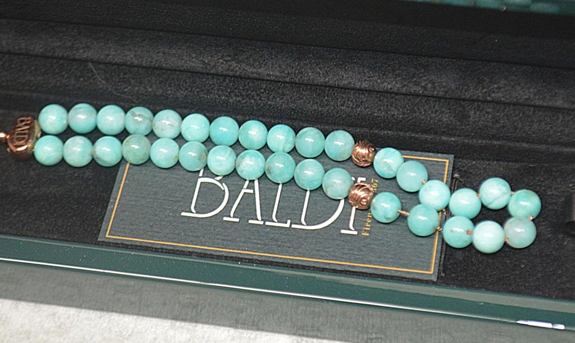 1 x BALDI 'Home Jewels' Italian Hand-crafted Artisan MISBAHA Prayer Beads In Amazonite Gemstone - Image 2 of 7