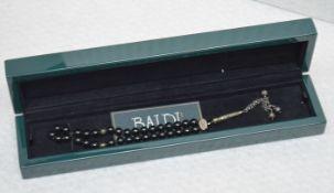 1 x BALDI 'Home Jewels' Italian Hand-crafted Artisan MISBAHA Prayer Beads In BLACK ONYX And