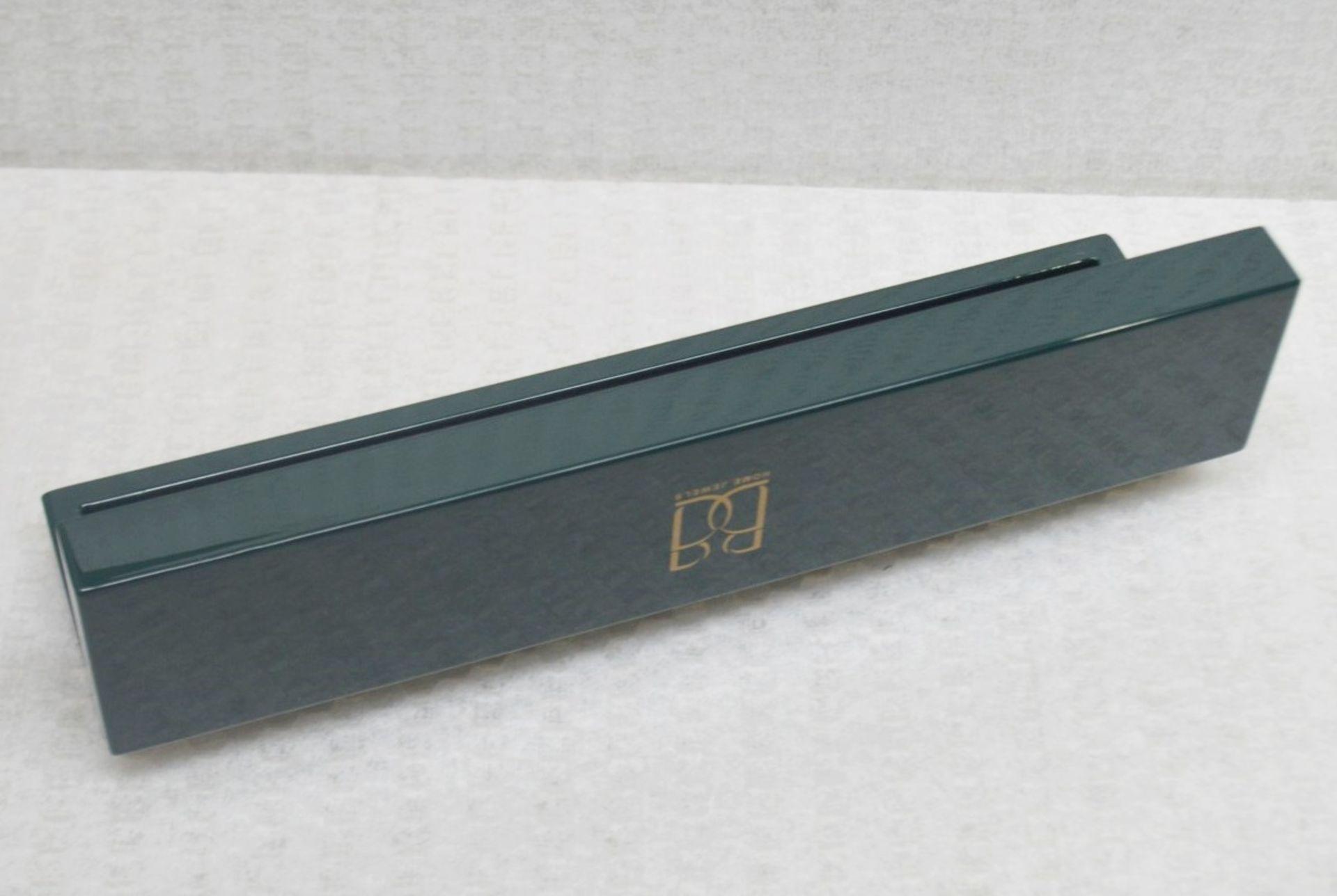 1 x BALDI 'Home Jewels' Italian Hand-crafted Artisan MISBAHA Prayer Beads In Green Malachite And - Image 2 of 5