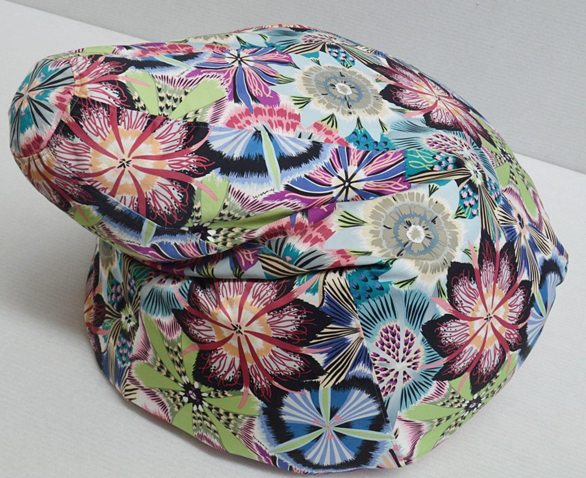 1 x Large Bean Bag Chair In 'Missoni Passiflora' Fabric - Dimensions Height 100 x Diameter 70cm - Image 2 of 5