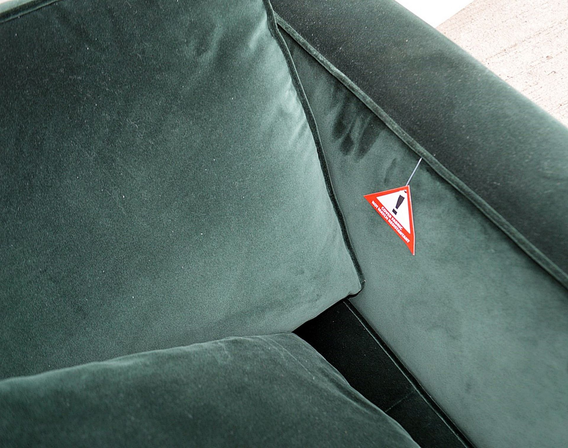 2 x B&B Italia MAXALTO Luxury Sofa Sections Both Upholstered In Rich Dark Green Velvet - RRP £7,248 - Image 11 of 13