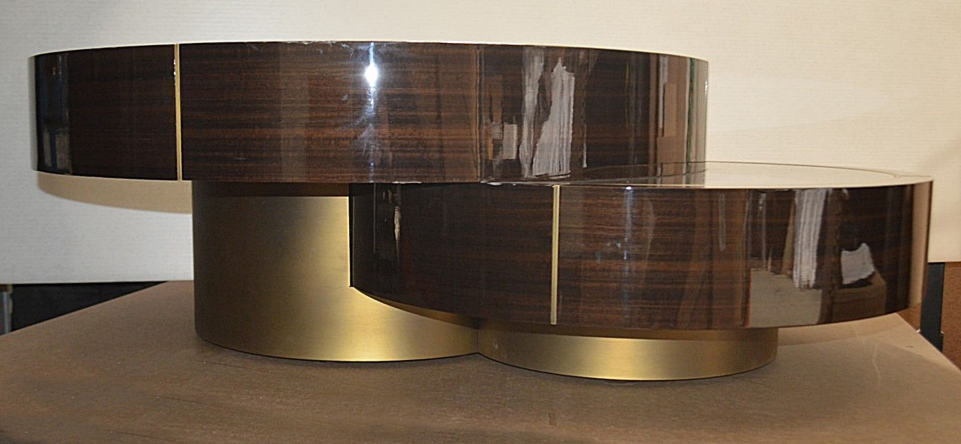 1 x FRATO 'Aarhus' Luxury Coffee Table Topped With Marble With High Gloss Finish - RRP £6,611 - Image 5 of 9