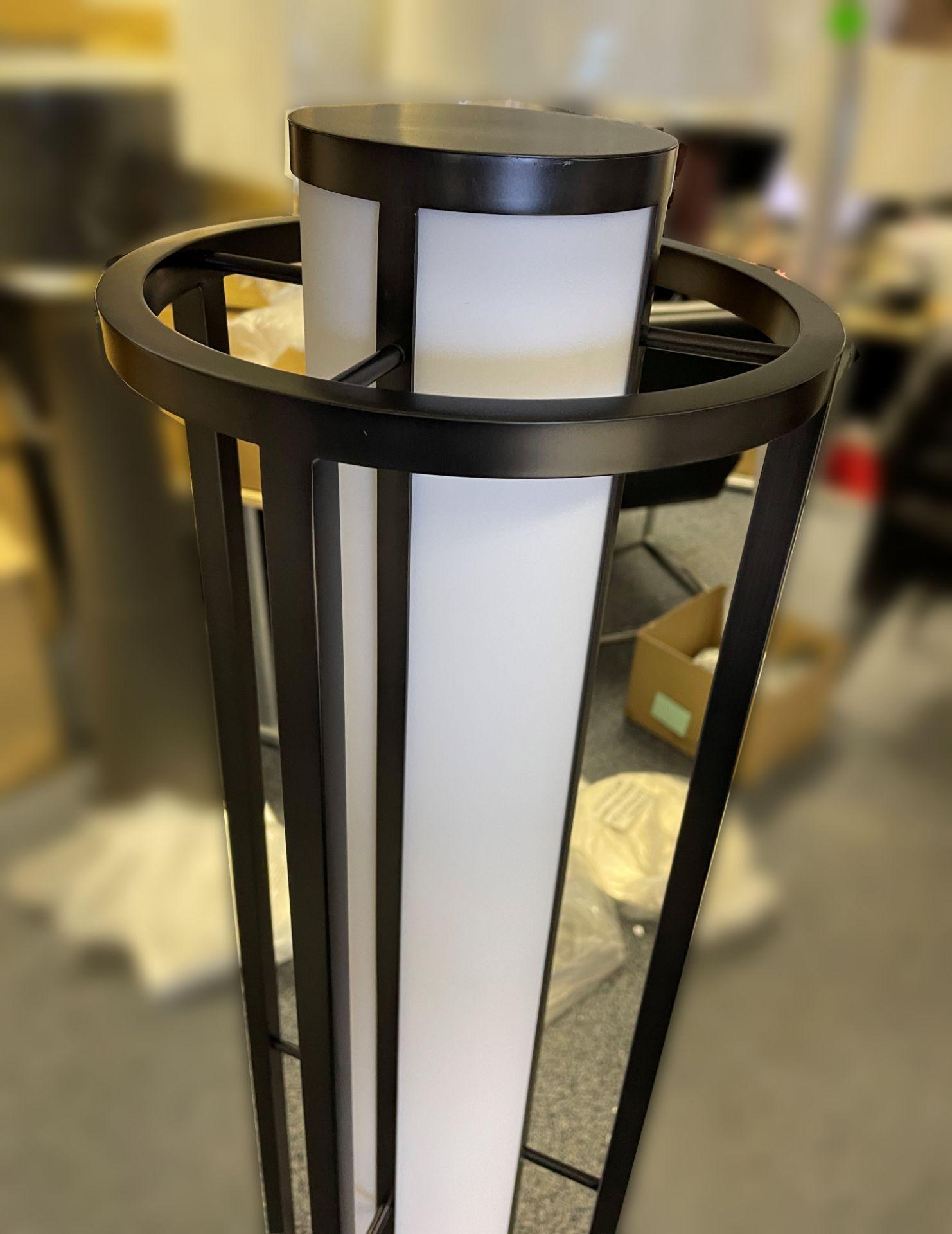 1 x Chelsom Art Deco Style Floor Lamp in Black/Bronze Height 161cm x 30cm Diameter - Ref: CHL197 - - Image 2 of 10
