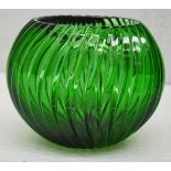 1 x BALDI 'Home Jewels' Italian Hand-crafted Artisan Crystal Bowl In Green - Dimensions: Height 10cm