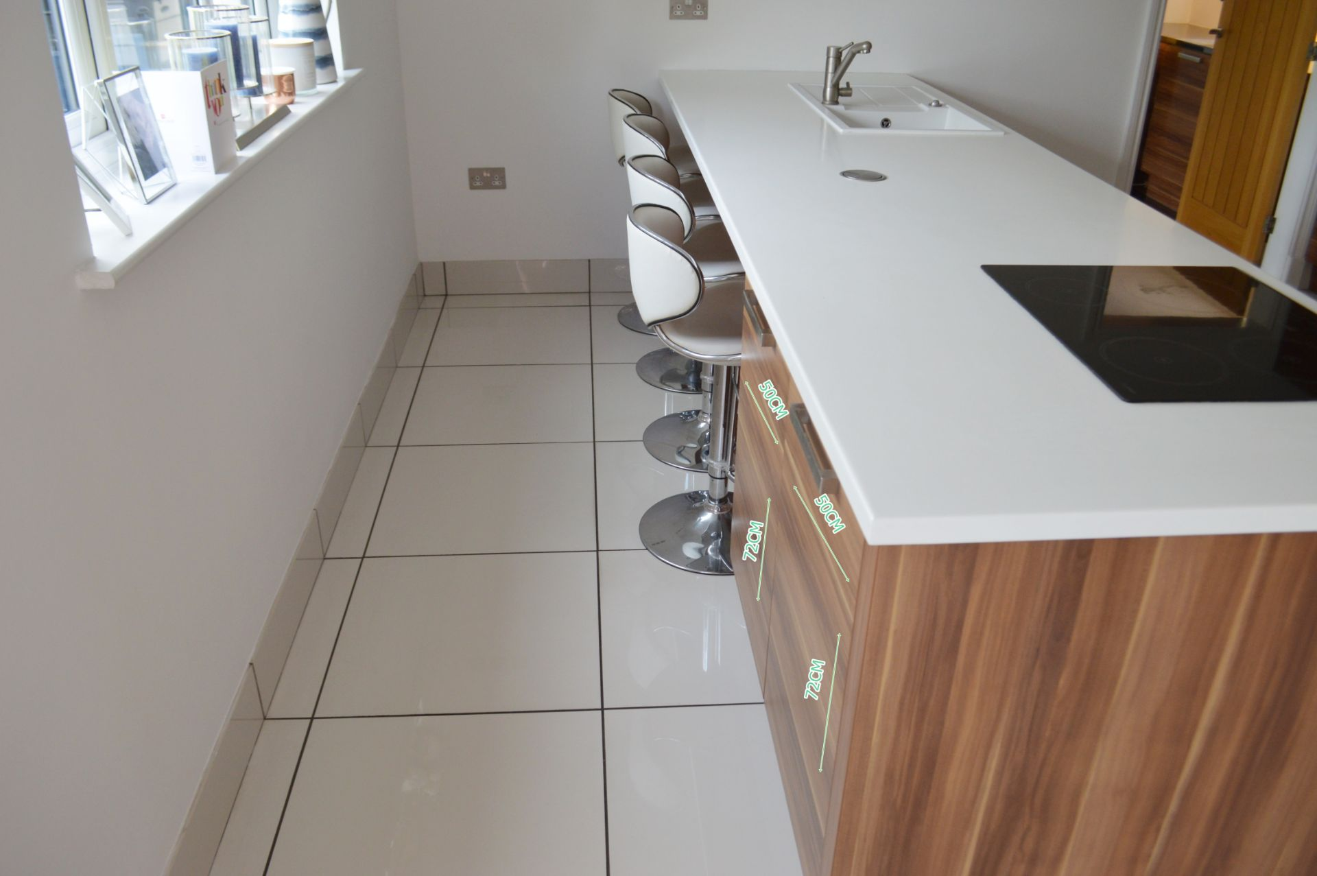 1 x Contemporary Bespoke Fitted Kitchen With Integrated Neff Branded Appliances, Quartz Worktops - Image 15 of 52