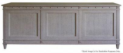 1 x JUSTIN VAN BREDA 'Monty' DesignerRegency-inspired3-Door Sideboard - Original RRP £9,700