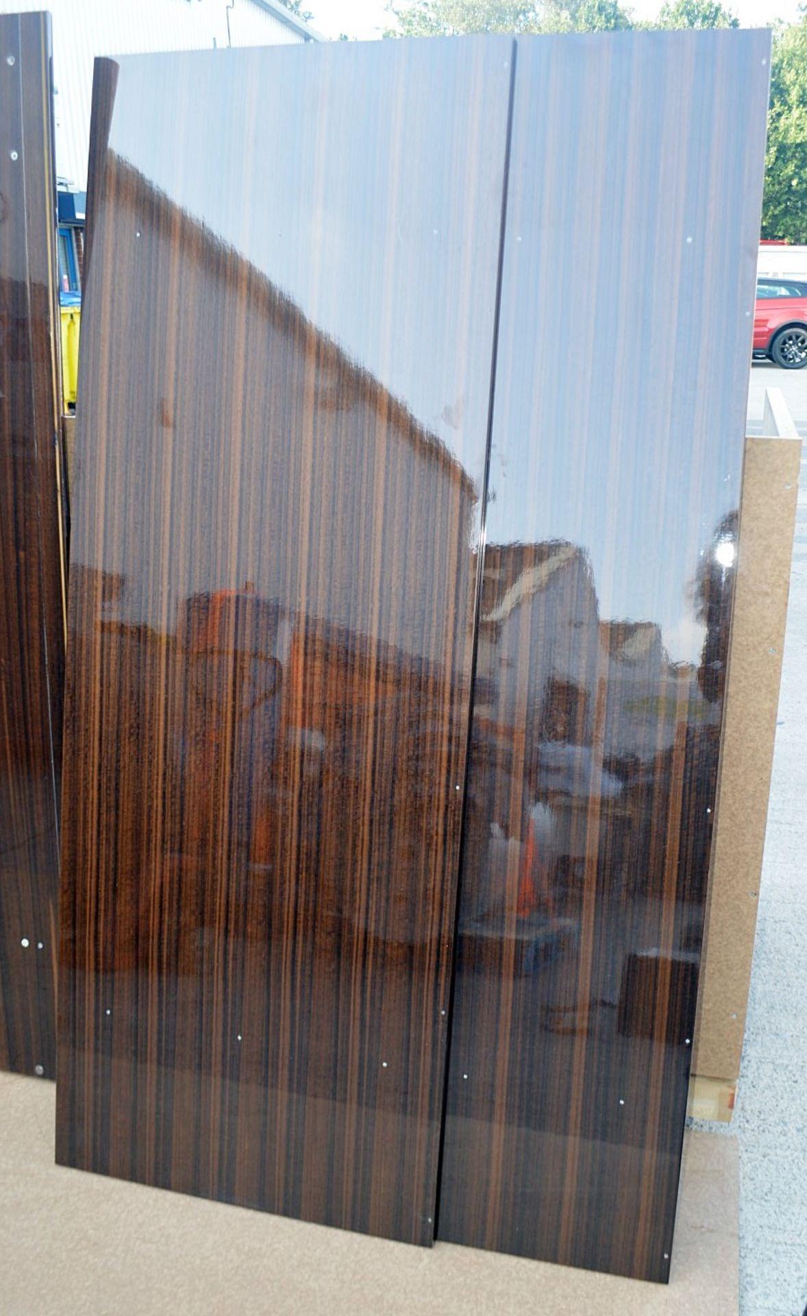 1 x FRATO Bespoke 'Siena' Wardrobe With A High Gloss Brown Wood Veneer Finish - Original RRP £18,890 - Image 12 of 21