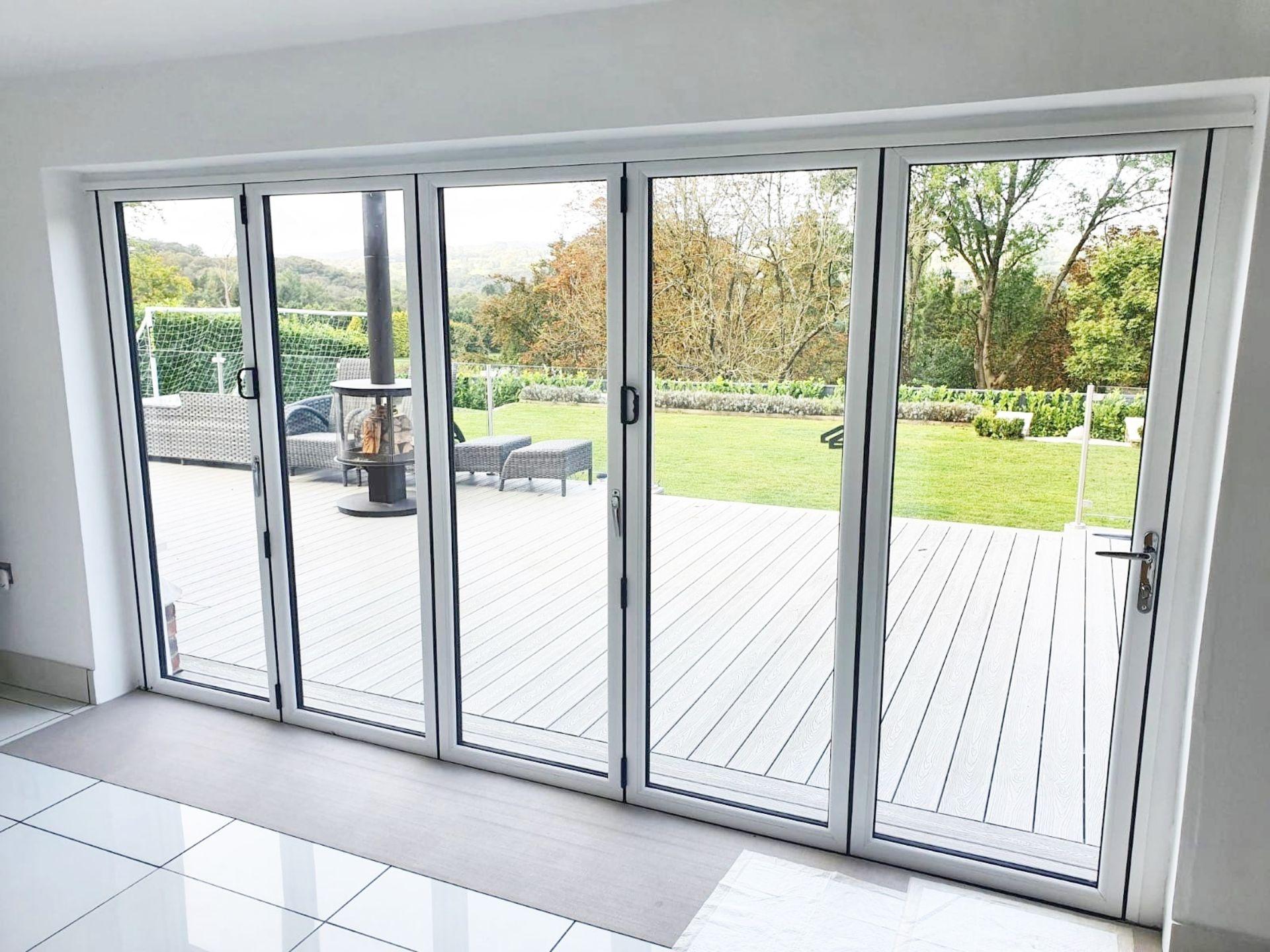 1 x Slide And Fold Bi Fold Doors Including Frames - CL685 - Location: Blackburn BB6 - NO VAT On