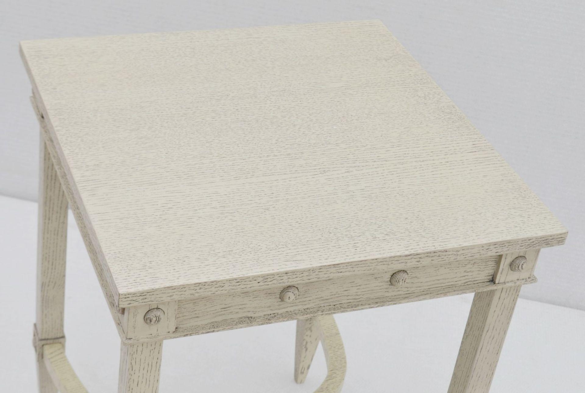 1 x JUSTIN VAN BREDA 'Thomas' Designer Georgian-inspired Table In Limed Grey Oak - RRP £1,320 - Image 3 of 6