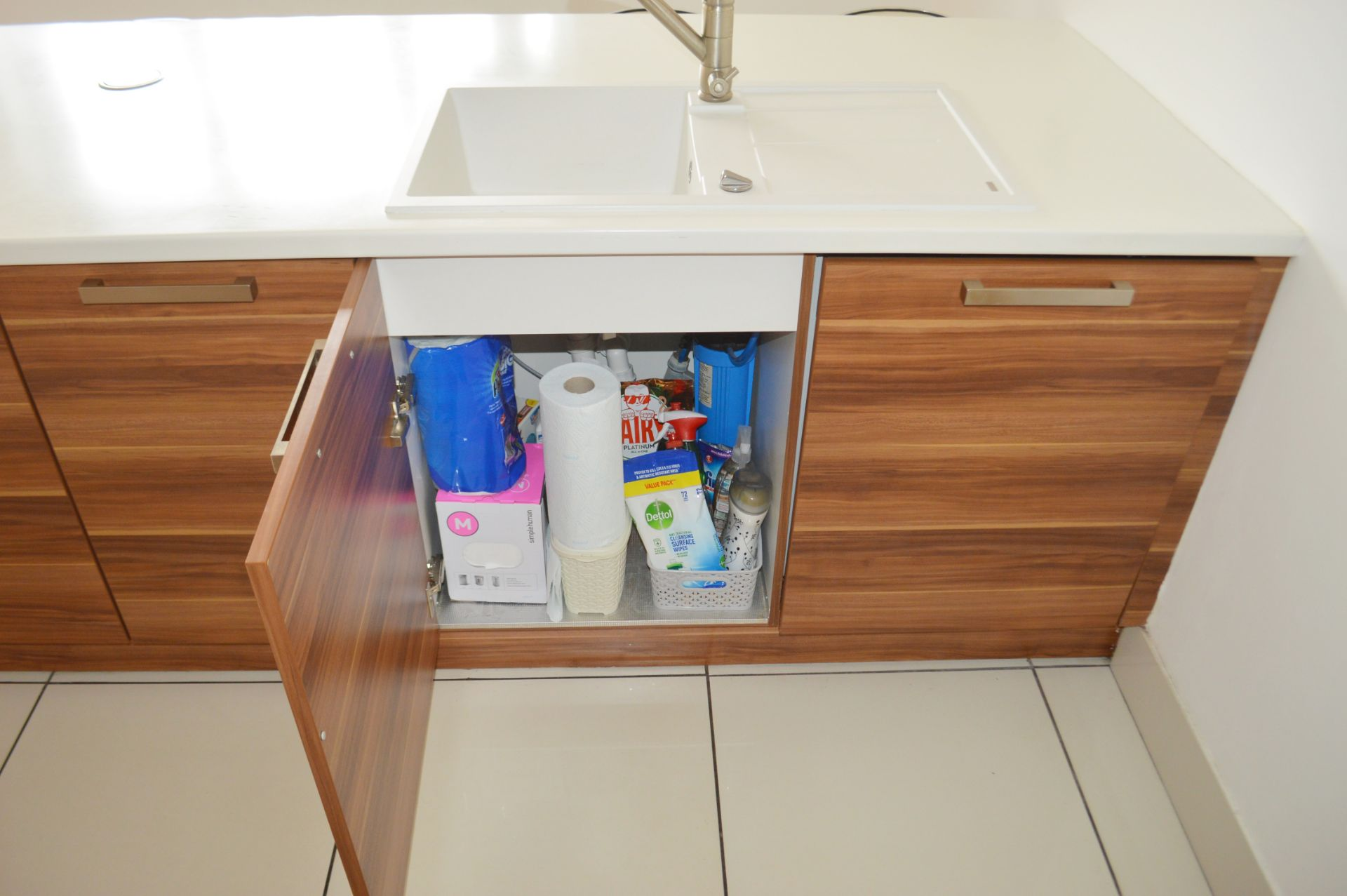 1 x Contemporary Bespoke Fitted Kitchen With Integrated Neff Branded Appliances, Quartz Worktops - Image 36 of 52
