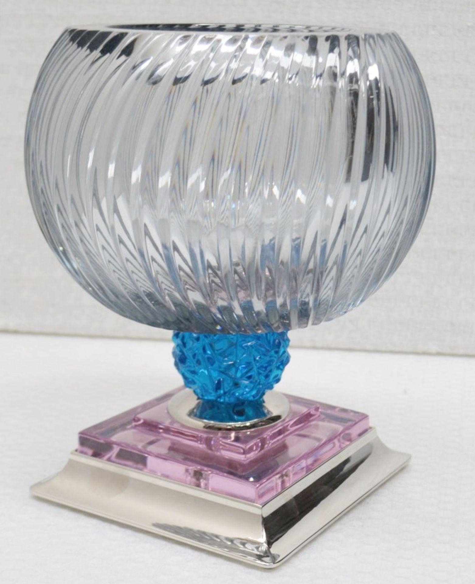 1 x BALDI 'Home Jewels' Italian Hand-crafted Artisan Coccinella 'BIG' Cup, In Smoke, Pink & Blue