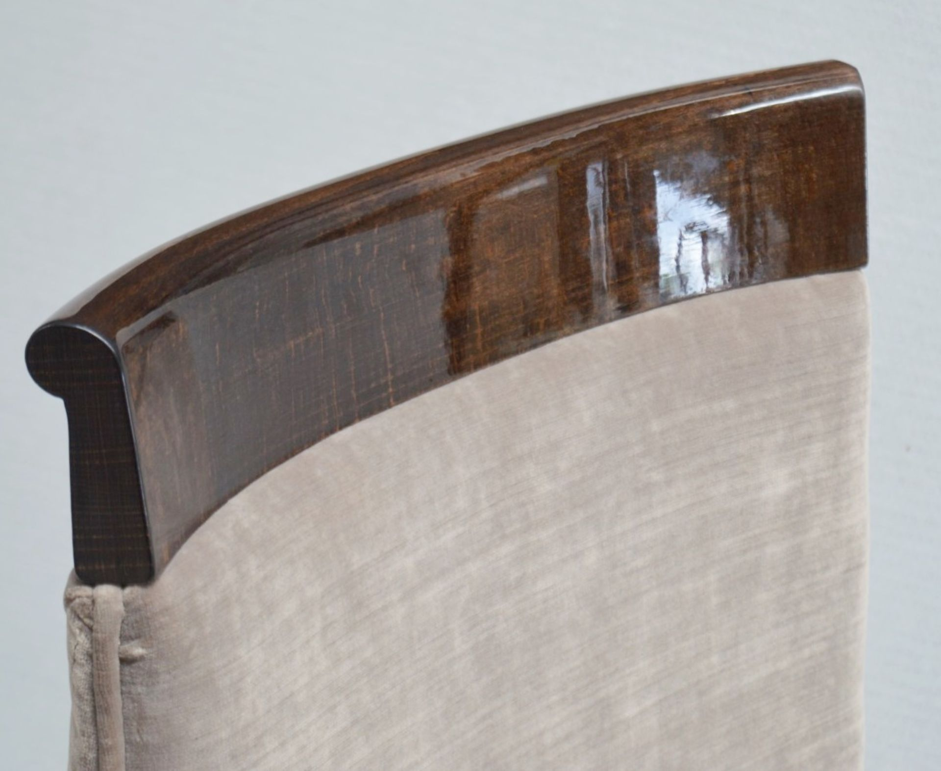 4 x GIORGIO Coliseum Velvet Upholstered Button Back Side Chairs With A Brazilian Rosewood Finish - - Image 10 of 11