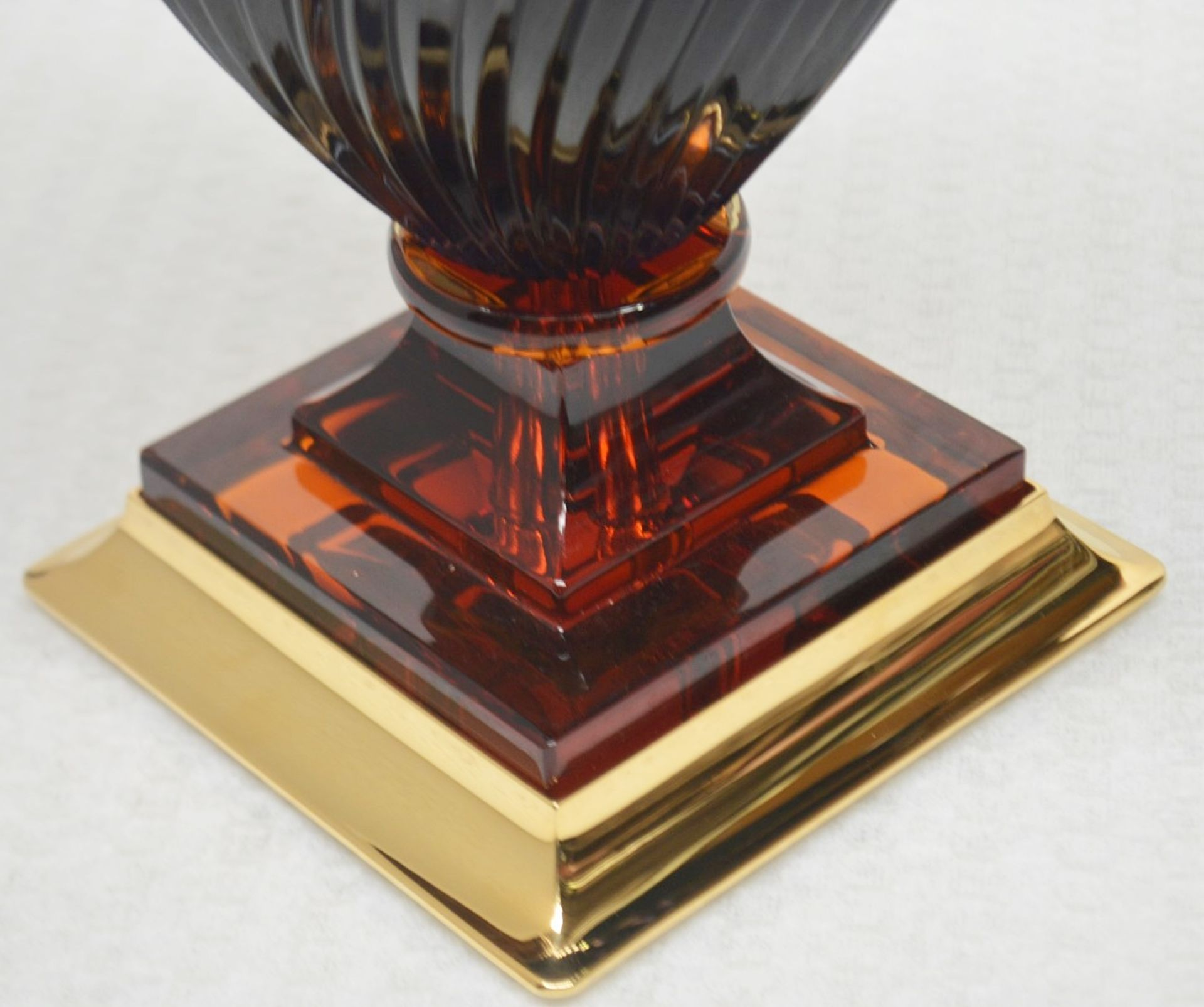 1 x BALDI 'Home Jewels' Italian Hand-crafted Artisan GHIAHDA VASE In Violet Crystal - RRP £1,925 - Image 3 of 5