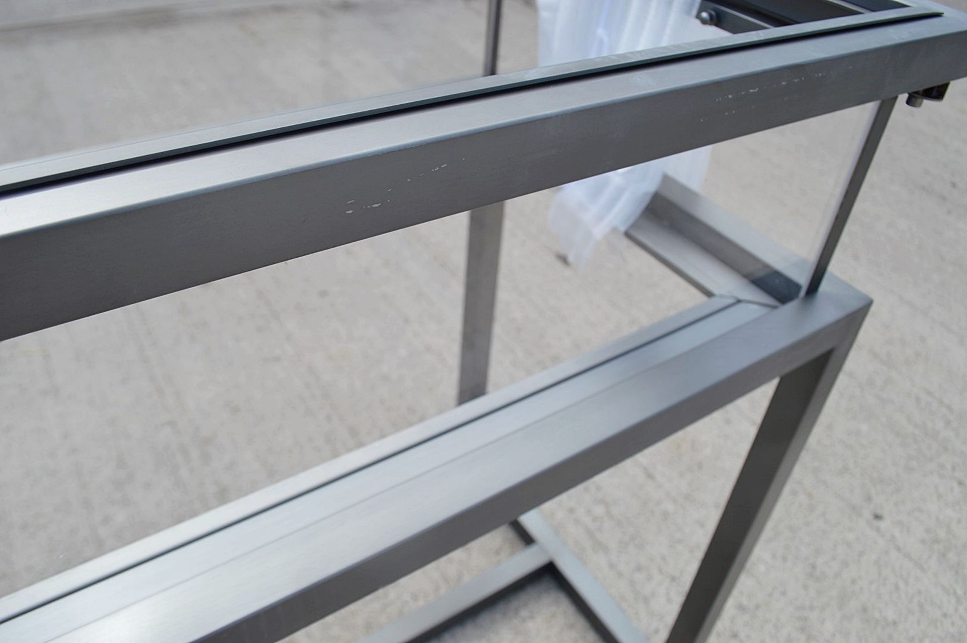 1 x EICHHOLTZ Luxury Console Table Harvey With A Sliding Glass Top And Steel Frame - RRP £3,839 - Image 13 of 16