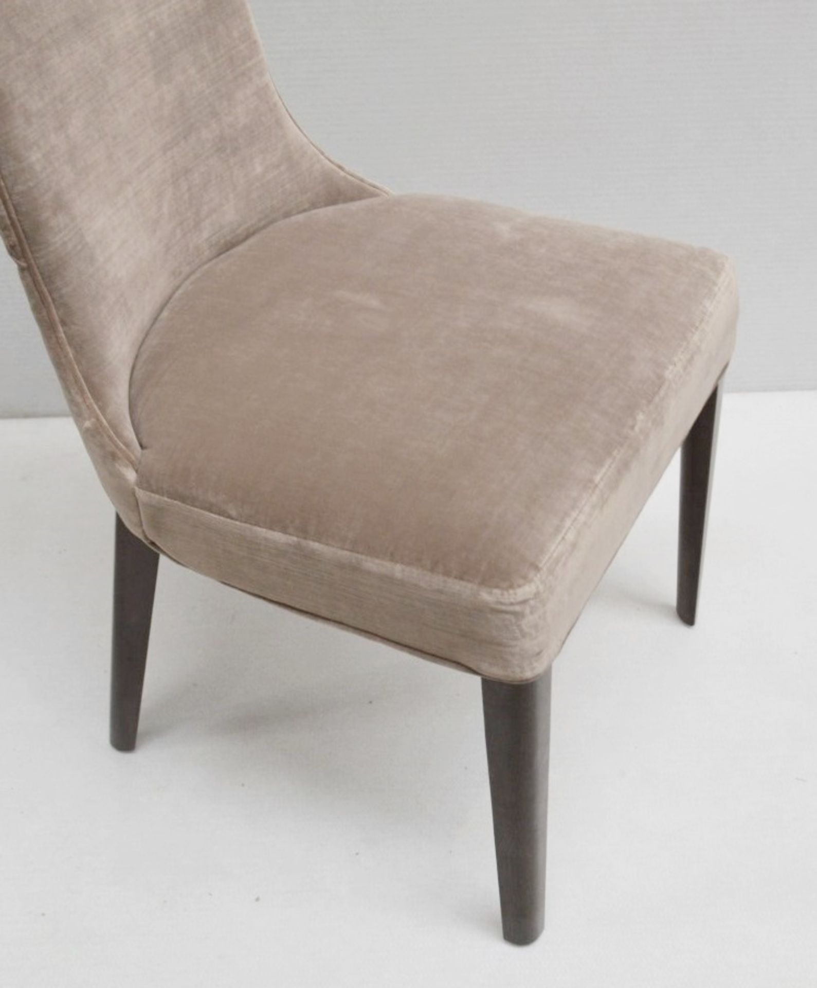 4 x GIORGIO Coliseum Velvet Upholstered Button Back Side Chairs With A Brazilian Rosewood Finish - - Image 5 of 11