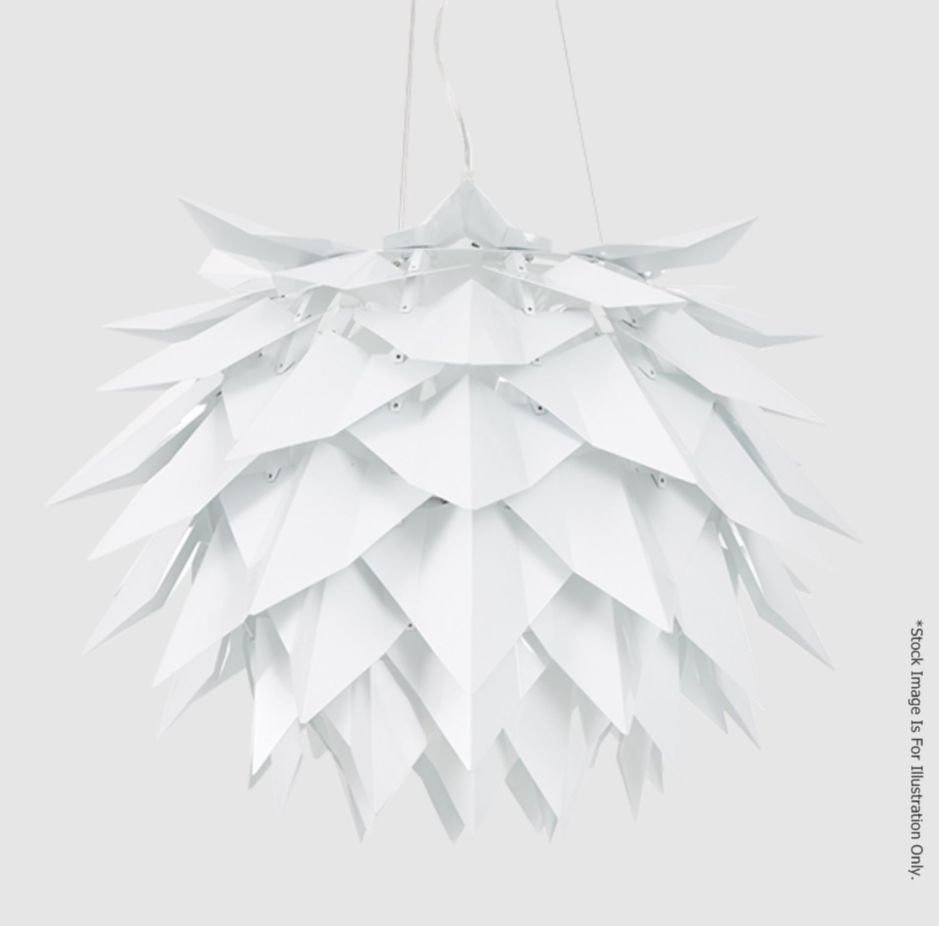 1 x 'Comosus' Statement Ceiling Pendant Light In Aluminium With A Brushed Silver Finish