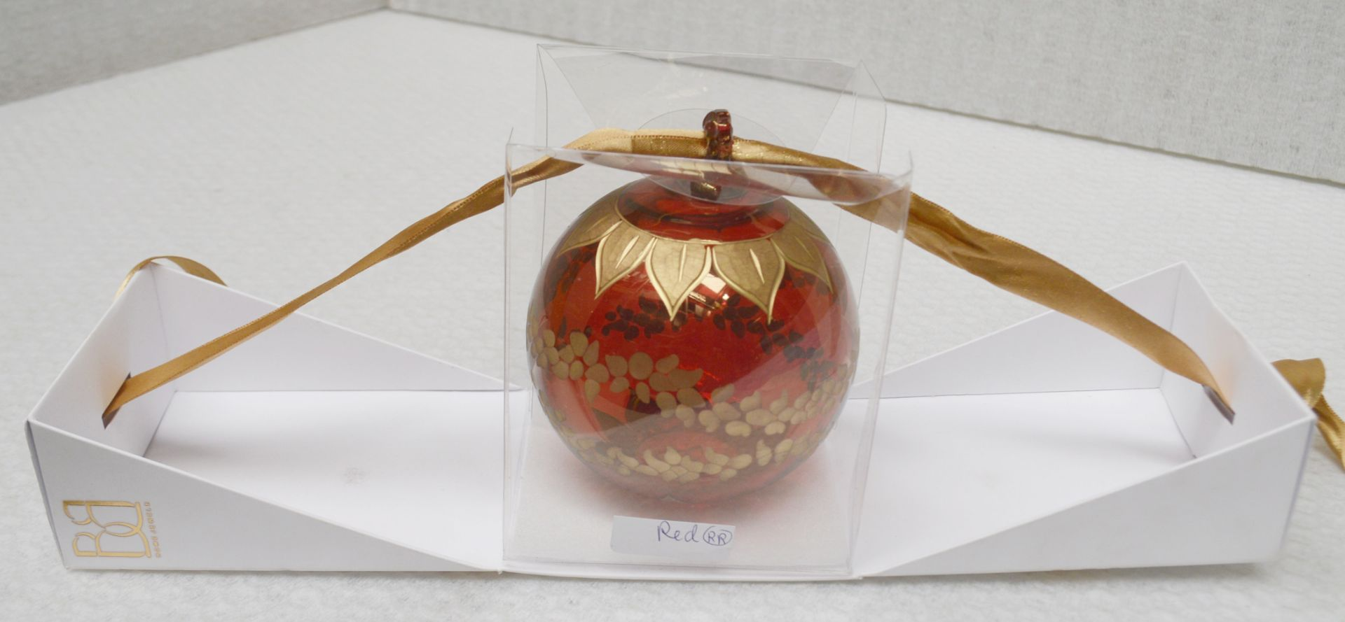 1 x BALDI 'Home Jewels' Italian Hand-crafted Artisan Christmas Tree Decoration In Red And Gold - - Image 2 of 5