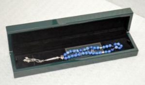 1 x BALDI 'Home Jewels' Italian Hand-crafted Artisan MISBAHA Prayer Beads In Blue Lapis Gemstone And